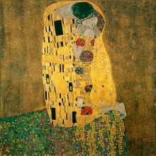 Bučinys (detalė). Gustav Klimt