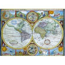 """""""Naujas ir tikslus"""" Senovinis Pasaulio Žemėlapis"""